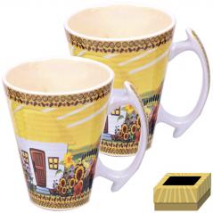 7155 Набор чашек 2шт 350 мл  Наши традиции/Хатынка