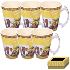 7239 Set of 6 pcs cups 350 ml Our traditions / hatynke
