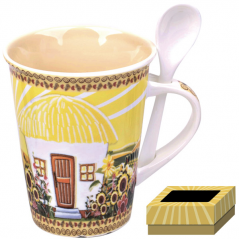 20603 cup with spoon 350ml Our traditions / hatynke