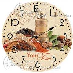 01-335 Часы настенные стекло /кругл. 28 см Специи