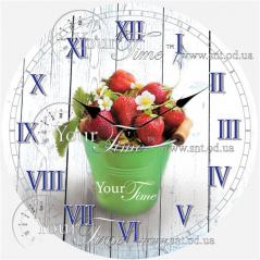01-317 Часы настенные стекло /кругл. 28 см Кухня