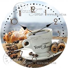 01-316 Часы настенные стекло /кругл. 28 см Кухня