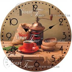 01-313 Часы настенные стекло /кругл. 28 см Кухня