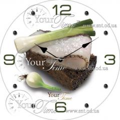 01-124 Часы настен. серия Кухня Закусочные стекло/кругл. 28см