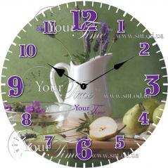 01-350 Часы настенные стекло/кругл. 28 см Специи