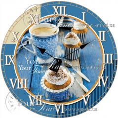 01-353 Часы настенные стекло/кругл. 28 см Прованс