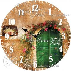 01-359 Часы настенные стекло/кругл. 28 см Прованс