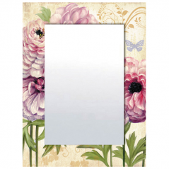 740-003 Зеркало с рамкой <a href='http://snt.od.ua/ru/poisk.html?q=Цветы' />Цветы</a> 80х60х4,5 см