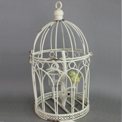777-048 Decorative candlestick bird in a cage 30 cm