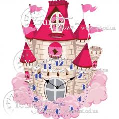 05-200 Wall clock Castle Children MDF 32.5 * 4.5 * 39cm