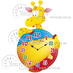 05-203 Часы настенные Жираф детские МДФ 20,5 * 4,5 * 33,5см