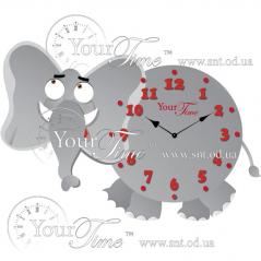 05-207 Часы настенные Слоник детские МДФ 35 * 4,5 * 22см