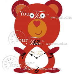 05-211 Часы настенные Мишутка детские МДФ 23 * 4,5 * 33см
