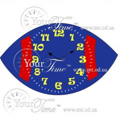 05-213 Wall clock Rugby children MDF 34.8 * 4.5 * 20.5 cm