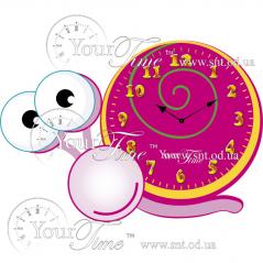 05-214 clock Snail Children MDF 32.5 * 4.5 * 23cm