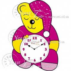 05-212 Wall Clock Bear baby MDF 22 * 4.5 * 33cm