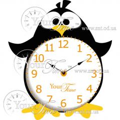 05-216 Часы настенные Пингвин детские МДФ 26 * 4,5 * 30см