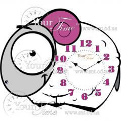 05-217 clock baby sheep MDF 34 * 4.5 * 28cm