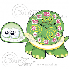 05-219 Часы настенные Черепаха детские МДФ 34 * 4,5 * 24см