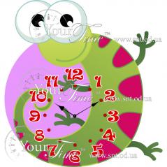 05-220 Часы настенные Ящерица детские МДФ 32 * 4,5 * 34см