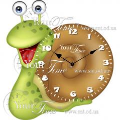 05-221 Часы настенные Улитка детские МДФ 29 * 4,5 * 30см