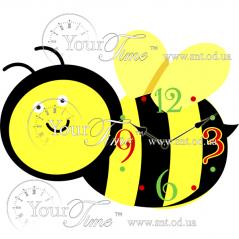 05-222 Часы настенные Пчелка детские МДФ 33,5 * 4,5 * 25см