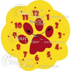 05-223 Часы настенные Лапа детские МДФ 28 * 4,5 * 28см