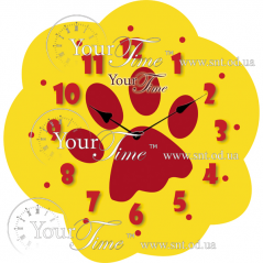 05-223 clock Paw children MDF 28 * 4.5 * 28cm