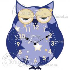 05-224 Часы настенные Сова детские МДФ 27 * 4,5 * 33см