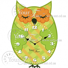 05-225 Часы настенные Сова детские МДФ 23 * 4,5 * 34см