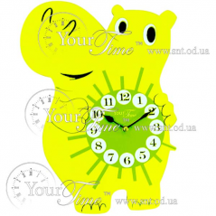 05-204 Wall clock Hippo baby MDF 24.5 * 4.5 * 33,5sm