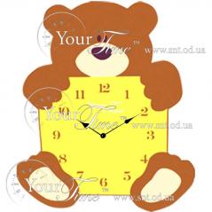 05-210 Часы настенные Мишка детские МДФ 26,8 * 4,5 * 33,5см