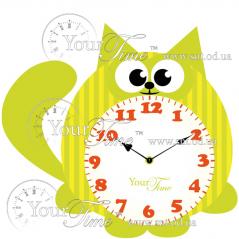 05-227 Часы настенные Кот детские МДФ 30 * 4,5 * 28см