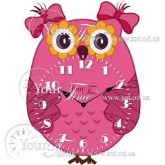 05-226 Часы настенные Сова детские МДФ 22,5 * 4,5 * 32,5см