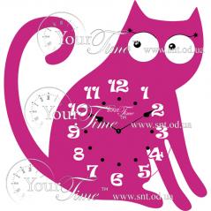 05-229 Часы настенные Кот детские МДФ 29 * 4,5 * 32,5см