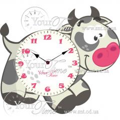 05-230 Часы настенные Коровка детские МДФ 34 * 4,5 * 28см