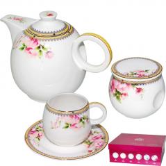 1778 Сервиз чайный 14пр.Розовый шиповник (8804) 240мл
