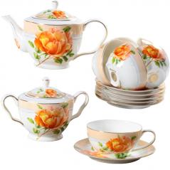 1803 Сервиз чайный 14пр.(220мл) Китайская роза