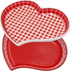 60934 Форма для запекания в форме сердца 20,5*18*3 см Микс 1 Красный 400мл