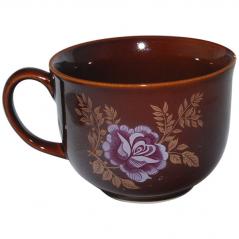 50216 Чашка Аппетитка коричневая с деколью 500мл