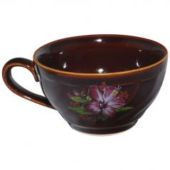 50195 Чашка чайная коричн. деколь 380 мл