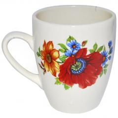 50198 Чашка Европа белая с деколью 400мл