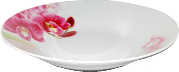 30003-1462 Тарелка суп 8 Красная орхидея