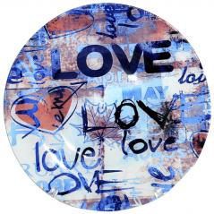 337 Тарелка круг 8 Любовь 20 см