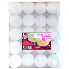 96005 Набор свечей чайных 50шт белых / уп / 10 грамм