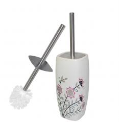 888-052 Туалетный ёршик с подставкой  Полевые <a href='http://snt.od.ua/ru/poisk.html?q=цветы' />цветы</a> 37.5*9*9см