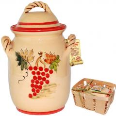 94003-1 Ёмкость для сыпучих продуктов 1 л Виноградная лоза