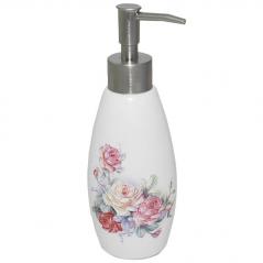 888-035 Диспенсер для мыла <a href='http://snt.od.ua/ru/poisk.html?q=Розы' />Розы</a> 340ml 19.5*6см
