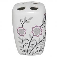 888-049 Подставка для зубных щёток Полевые <a href='http://snt.od.ua/ru/poisk.html?q=цветы' />цветы</a> 10*7*6см