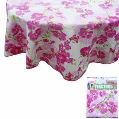 93204 tablecloth round d-150cm, cotton Orchid
